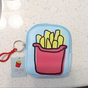 NWT french fries coin purse